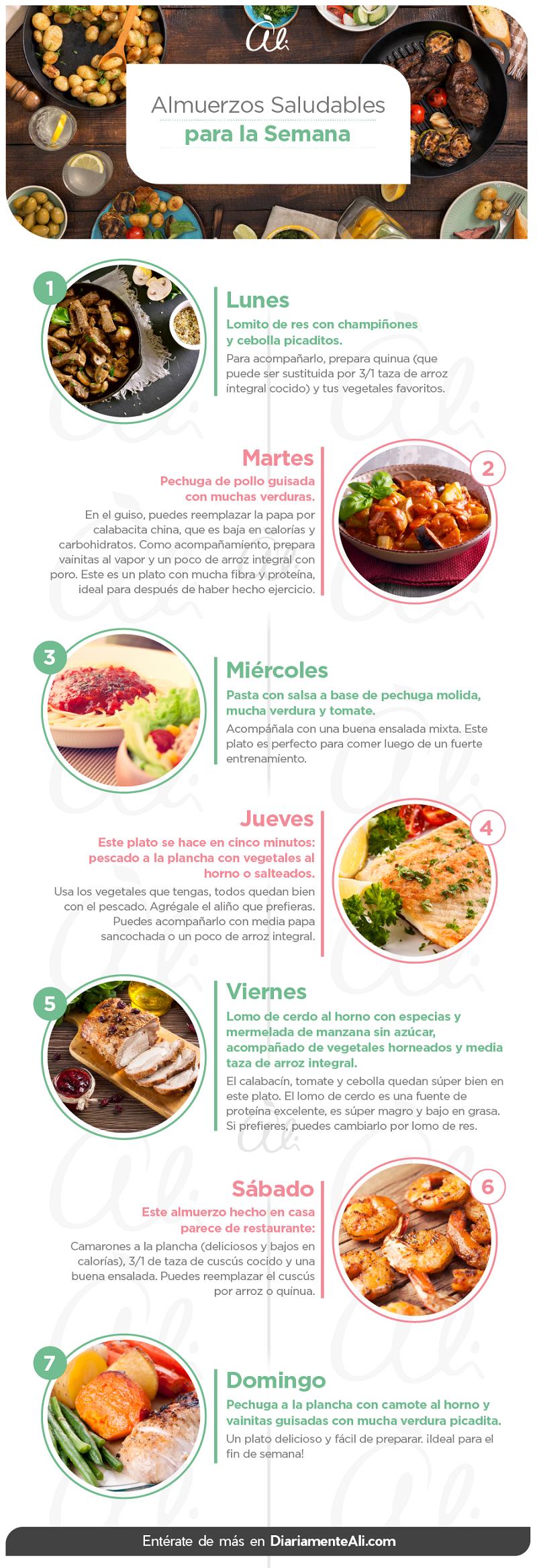 7 Almuerzos Saludables Para Toda La Semana Saludable